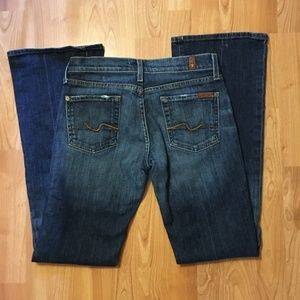 7 For All Mankind Boot Cut Medium Wash Jeans 26